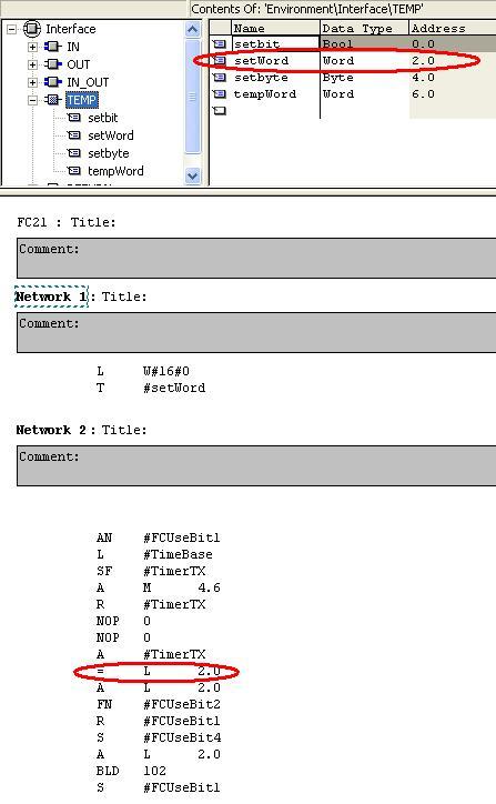 PLC S7-300: FC parameters - PLCS.net - Interactive Q & A