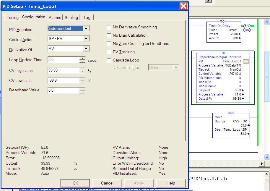 CompactLogix Ladder PID: Need Help - PLCS net - Interactive