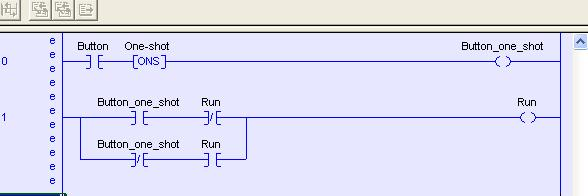Single button Start Stop latching logic PLCSnet Interactive Q A